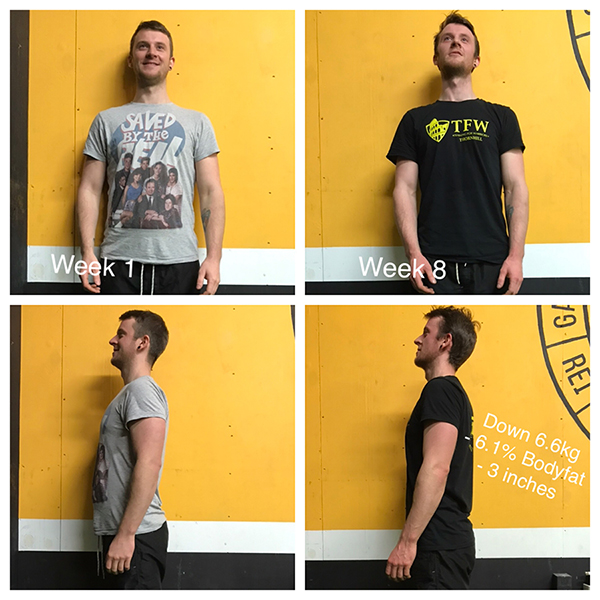 Ryan 8 week warrior challenge testimonial